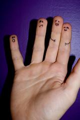 My gang [Explored] (Mr.C90) Tags: macro closeup sony fingers smiley a200 macromondays