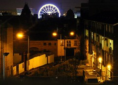 Liverpool night lights (* RICHARD M) Tags: street november colour liverpool buildings wheels cities silhouettes telephoto ferriswheel nightshots lightshade merseyside capitalofculture irishcentre metropolitancathedral chavassepark liverpoolone