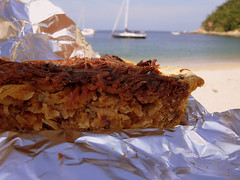 They bring you pie. On th beach. 30 pesos.