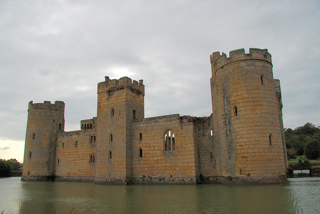 Adding a Little Colour to Bodiam Castle! Built in 1385, Bodiam Castle is a