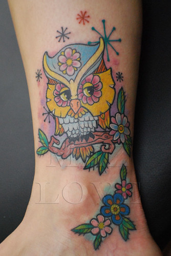 Owl Tattoos On Feet Picture 6