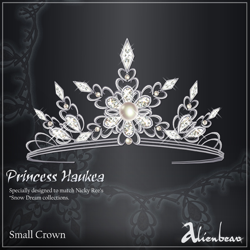 Princess Haukea SMALL crown white