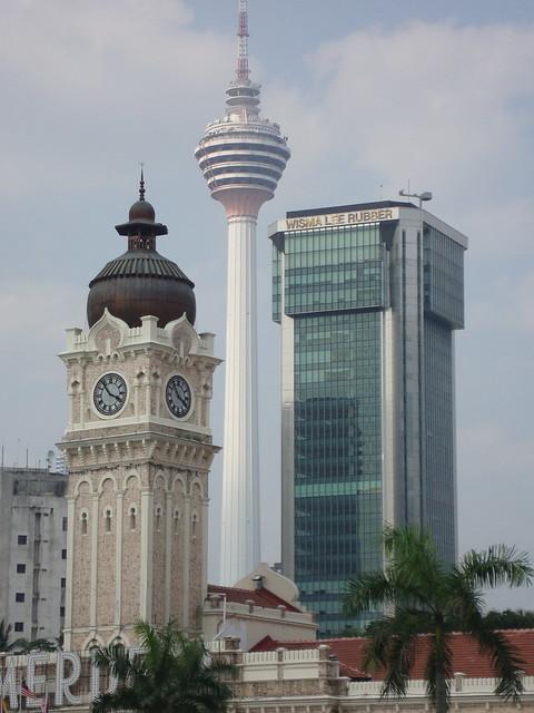 Menara KL in the Kuala Lumpur skyline