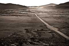 plaine des sables (bmailhe) Tags: road light bw moon public lune volcano nb plain plaine iledelarunion plainedessables lunaire