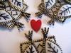 Owly talons!! (woolly  fabulous) Tags: white wool leaf pin heart recycled brooch felt owl zipper newbirds embroisered