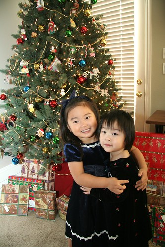 Gwen and Maddy Christmas 2007