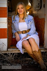 Jerome AZ, Gold King Mine, Kailey 2 (Logan Brumm Photography and Design) Tags: world california old blue school red arizona portrait sun white lake black west bus broken girl vintage shower gold town photo belt high model rust cowboy mine university king dress boots ghost rustic mea