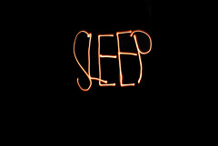 sleep (ayeshasyed) Tags: light sleeping lightpainting night dark painting word bed bedroom sleep room flashlight necessity