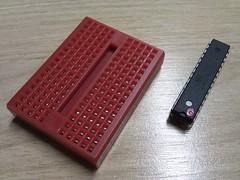 Componentes do standalone #3 (arduinolabs) Tags: breadboard arduino atmega standalone