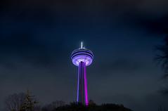 Beacon in the night (anthonyronchi) Tags: tower sonya7rii skylon niagarafalls night longexposure