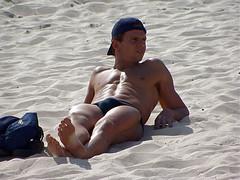 Bondi_166 (RHColo_General) Tags: ocean man men guy beach bondi 2000 muscle bare chest sydney australia nsw olympics speedo abs bondibeach sunbathe
