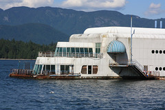 McBarge ghost ship (ouno design) Tags: white abandoned modern vancouver restaurant floating mcdonalds moderne waste barge ghostship mcbarge deathship whoownsthisthing
