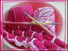 dishcloths monsters plants 013 (gray la gran) Tags: knitting knit yarn dishcloth cotton knitted peachesncream ballband