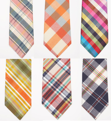 plaid and stripe ties