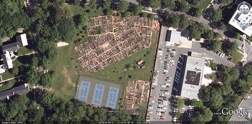 (satellite view of Cleveland Park victory gardens, Washington DC)