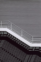 _ (-Olena-) Tags: city shadow urban blackandwhite architecture analog 35mm pentax geometry empty poland polska minimal simplicity minimalism simple emptiness szczecin fujineopan