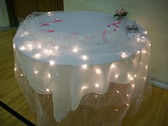 Decorating The Night Before - Cake Table