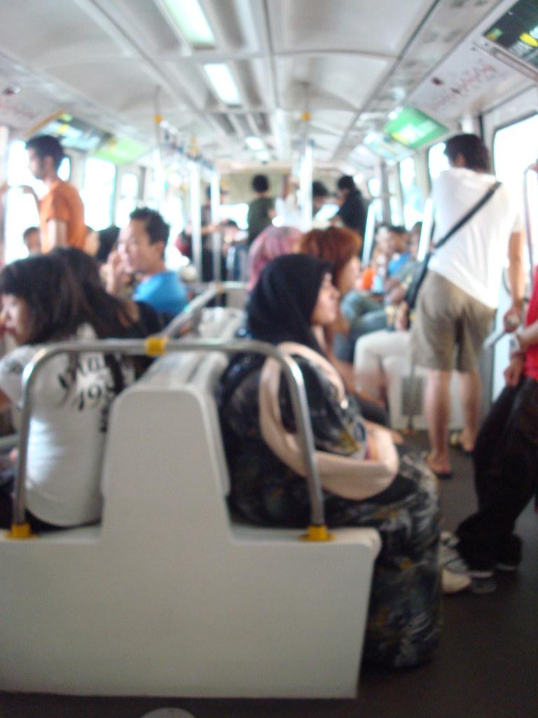 單軌捷運內部