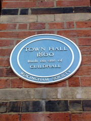 Photo of Town Hall, Wokingham and Guildhall, Wokingham blue plaque