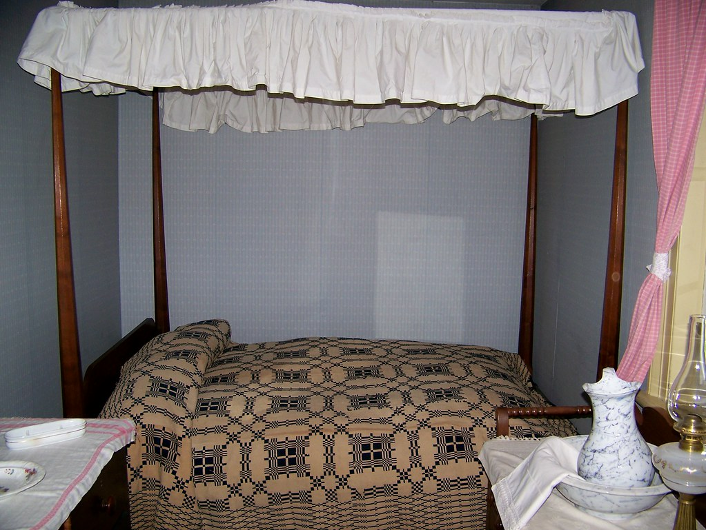 Bed, with canopy