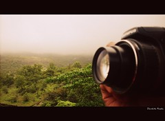 I am a camera....[Explored #300] (D a r s h i) Tags: camera sky india mountain mountains nature lens olympus shutter pune bushi lonawala darshi potographer darshita
