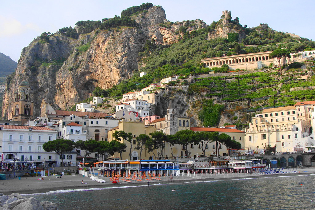 Amalfi dal mare  -  Amalfi from the sea