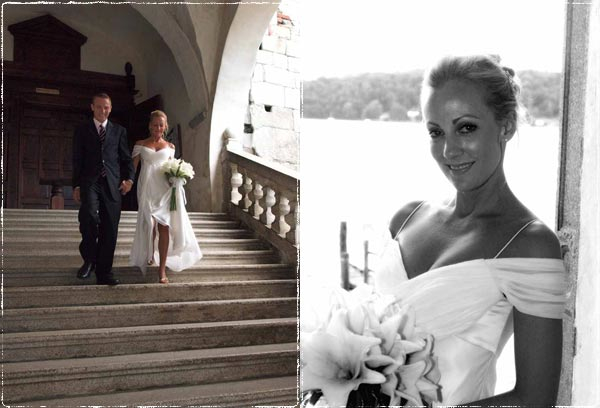 Intimate and romantic ceremony on Lake Orta
