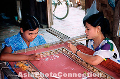 M00519 (Henry Westheim Photography) Tags: poverty people girl work asian women asia needlework embroidery sewing burma labor traditional poor working young needlepoint labour stitching myanmar southeast mandalay handcraft tapestry embroidering
