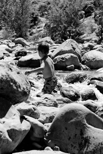 exploring in the rocks
