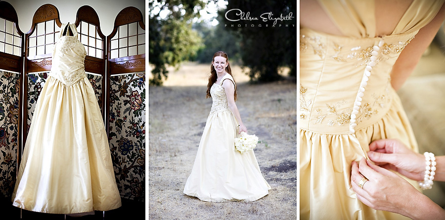 Westlake Village Getting Ready Gold Yellow Wedding Dress