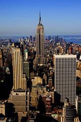 (domib34) Tags: voyage nyc newyorkcity travel blue usa ny building architecture canon amazing construction rockefellercenter bleu esb empirestatebuilding immeuble hauteur newyrok domib34 rockefellerobservatorydeck