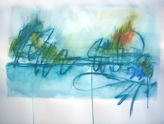 The rise of Fall (Nathalie Houde [aquanatali]) Tags: abstract art paper aquarelle pastels watercolour papier abstrait
