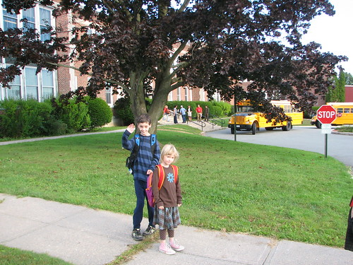 Peter and Elizabeth start school in Westport Central Scool