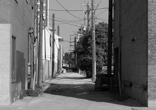 Back alley to the parking lot