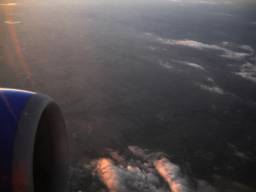 I always try to sit by the window on a flight, because I love to watch the scenery pass below...
