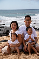 The four of us (Mikenan1) Tags: family phoebe owen sandybeach
