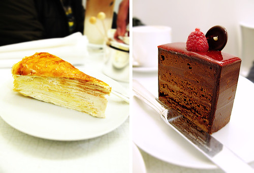 Lady M Mille Crepe and Chocolate Raspberry