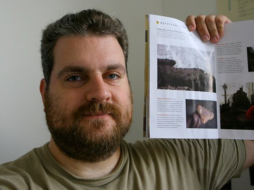 My photo in the Greek edition of National Geographic magazine