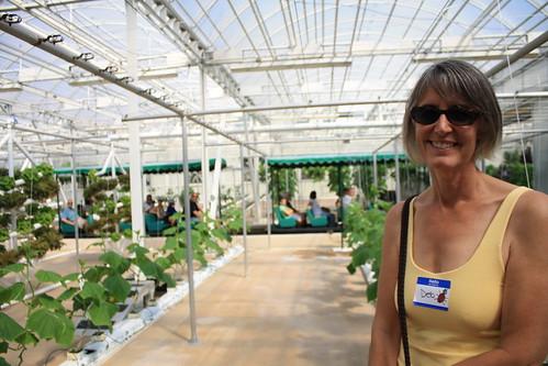 Deborah in Greenhouse