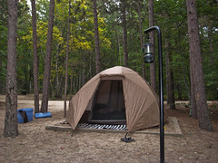 Our new tent! (ktpupp) Tags: camping summer beach up rob lakemichigan lakesuperior kt mackinacbridge picturedrocks 12milebeach canonpowershotsd750 img9183 58174mm 2009katesumbler