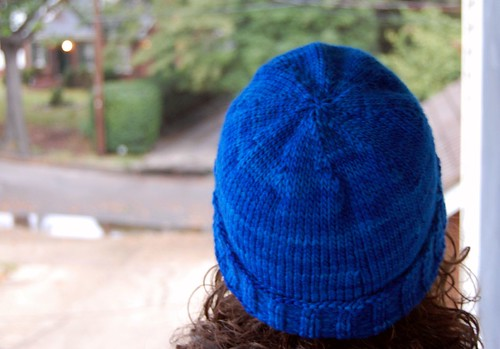 Ribbed hat from the back