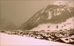 *Once again.* (Lelina) Tags: schnee houses snow mountains alps postcard tetti roofs neve snowboard snowing sliding flakes montagna casette sci livigno piste discesa innevati coveredinsnow