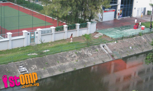 So convenient to dispose paint into Geylang river when renovating tennis court