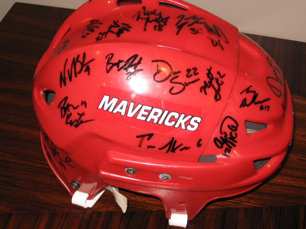 #77 UNO Mavericks Signed Hockey Helmet