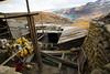 La pollution des chercheurs d'or s'en va dans cette lagune puis traverse toute la région. En aval, 30 à 50% des bêtes meurent chaque année à cause de la contamination. (La Rinconada, Puno, Pérou, août 2009)