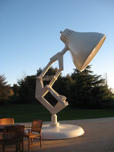 pixar lamp and ball. Iconic PIXAR lamp. PIXAR Animation Studios Emeryville, CA www.pixar.com/