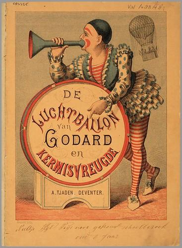 De luchtballon van Godard en Kermisvreugde published by A Tjaden, 1875