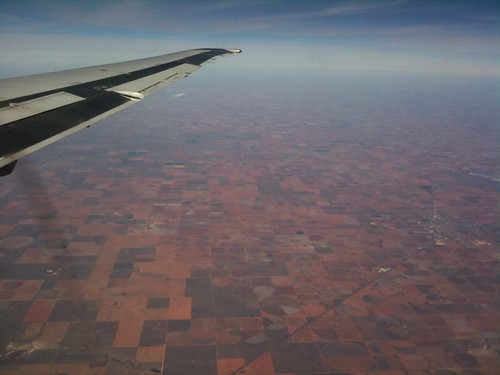 Pic from a plane!  I'm not sure where I am right now, but it sure is pretty.