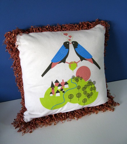 For the Birds T-pillow
