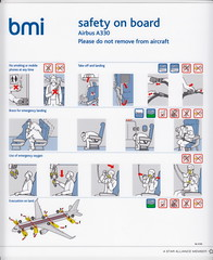 Airbus A330 BMI SIL 019C (Luccio.errera) Tags: cards  notice aviation board security safety collection card instructions passenger information passager instruction onboard bord carte aeronautique scurit securite consigne bord consignes